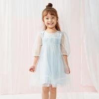 【秒杀价:169元】马拉丁童装女童连衣裙夏装新款网纱拼接洋气儿童时尚公主裙