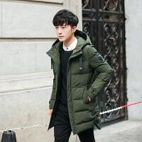 男士冬季外套男棉袄加厚棉衣青年韩版修身中长款棉服新款潮流