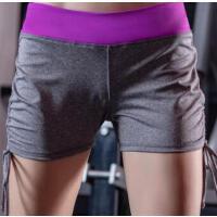 速干弹力运动短裤女 修身跑步瑜伽紧身健身房训练热裤子 支持礼品卡