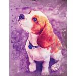 预订 Cute Beagle Dog Composition Notebook, Blank Sketch Paper
