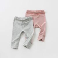 [3折价:47.1]戴维贝拉童装春季新款女童裤子宝宝弹力打底裤DB10455