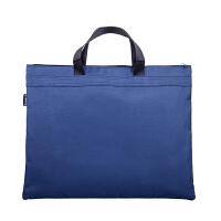 广博(GuangBo)帆布手提资料袋/文件袋/公文包/办公收纳用品 蓝色A6095-1当当自营