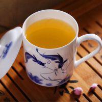 青花瓷器办公会议礼品杯500ML茶杯陶瓷带盖骨瓷大水杯