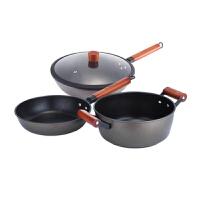 现代工匠 炒锅 汤锅 煎锅不粘锅具套装组合三件套XDTZ-151 炒锅 汤锅 煎锅 三件套锅具