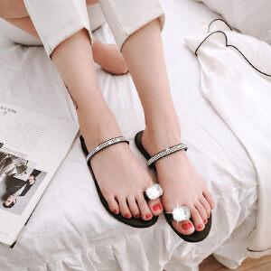 O'SHELL欧希尔新品057-1759欧美平底鞋女士凉拖鞋