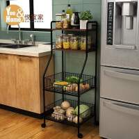 厨房置物架收纳神器落地多层蔬菜微波炉烤箱储物锅架子家用
