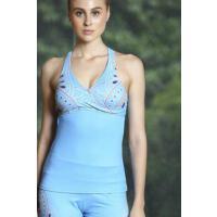 性感时尚 吸湿排汗 瑜伽运动上衣女 显瘦健身速干舞蹈户外跑步服长款背心 支持礼品卡