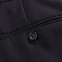 衬衫男学生黑色纯羊毛商务正装西裤 男秋冬厚欧版西装裤 黑色