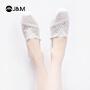 jm快乐玛丽2019春季新款潮平底纯色套脚休闲帆布鞋一脚蹬女鞋
