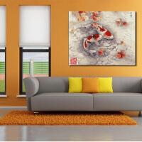 数字彩绘 自助油画 数字油画 特价 连年有余-秋韵 40*50 客厅风景棉布丙烯手绘装饰画