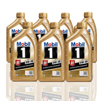 美孚(Mobil) 金美孚1号新品 金装 发动机润滑油 汽车机油 全合成机油 API SN 0W-30 1L*7