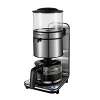 咖啡机 家用商用不锈钢机身,玻璃水箱美式咖啡机泡茶 银灰色