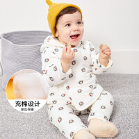 【限时3件3折价:60】迷你巴拉巴拉婴儿男女宝宝内衣上衣保暖上装秋冬加厚童装新品