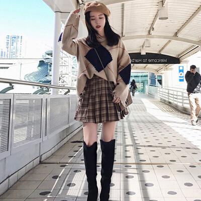 初秋套装女韩版可爱毛衣裙子精神女装秋季街拍网红俏皮洋气两件套 发货周期:一般在付款后2-90天左右发货,具体发货时间请以与客服协商的时间为准