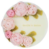 SavilleQuinn萨维尔琨 玫瑰圆形蛋糕皂 精油手工皂