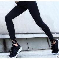 字母印花 瑜伽长裤女紧身跑步速干运动裤女秋季弹力 健身长裤   支持礼品卡