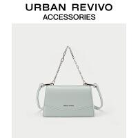 URBAN REVIVO2021春夏新品女士配件复古菱格手提挎包AW16TG2N2002