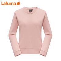 LAFUMA乐飞叶女士户外显瘦气质纯色圆领弹力长袖t恤女LFTS8D712