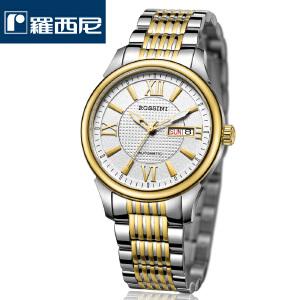 罗西尼新款手表正品时尚男士机械表罗马字防水双历商务男表514629