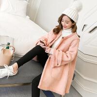韩版宽松孕妇冬装外套孕妇装中长款棉衣孕妇加厚保暖大衣