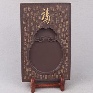 中国非物质文化遗产传承人群 钟景锐作品《百福图》 砚
