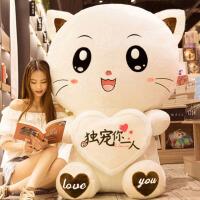 可爱猫咪韩国搞怪生日礼物毛绒玩具女孩睡觉抱布娃娃公仔玩偶