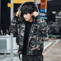 棉衣男士外套冬季面包服棉袄短款迷彩韩版潮流加厚羽绒棉服男装