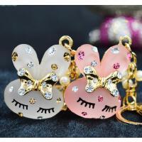 可爱水钻米菲兔汽车钥匙扣创意钥匙链包挂件情侣生日礼物