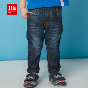 jjlkids季季乐童装春秋新品男童牛仔裤中腰长裤休闲儿童裤子PBCK62085