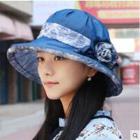 帽子女时尚薄款透气雪纺纱帽女士遮阳太阳沙滩帽简约防紫外线凉帽新品