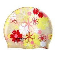 男女通用 金格尔护耳泳帽 硅胶帽 防水专业游泳帽 护耳硅胶帽