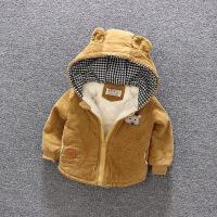 男童女童秋冬装灯芯绒外套加绒1棉衣2儿童3宝宝4棉袄5岁加厚婴儿宝宝灯芯绒