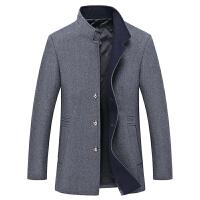 秋冬毛呢大衣男士中长款韩版修身立领休闲妮子风衣时尚外套潮