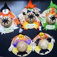 孩派 万圣节骷髅头挂件 鬼节道具 幽灵装饰挂件布艺恐怖装饰用品