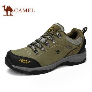 camel骆驼男鞋 牛皮户外登山男鞋耐磨防滑户外鞋
