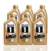 美孚(Mobil) 金美孚1号新品 金装 发动机润滑油 汽车机油 全合成机油 API SN 0W-20 1L*6