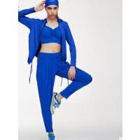 个性时尚 健身跑步服三件套女大码速干长袖外套背心瑜伽运动套装 吸湿排汗 支持礼品卡
