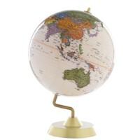 地球仪 博目地球仪 32cm 高清 中英文地名 金色圆座 商务系列