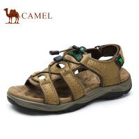 camel骆驼户外凉鞋 夏季新款休闲 牛皮魔术贴沙滩鞋男