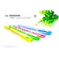 小白点文具 可擦换囊钢笔套装FP904 4支直液式彩色钢笔+4支彩色墨囊/学生学习办公用品儿童练字写作业考试彩金彩色彩