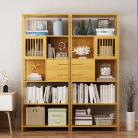 幽咸家居 简易书架 置物架 实木组装多层落地简约现代收纳架学生书柜储物柜子