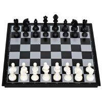 国际象棋套装折叠棋盘成人儿童高档黑白色金银色磁性棋送西洋跳棋