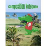 预订 Composition Notebook: Alligator Golf Theme Lined College