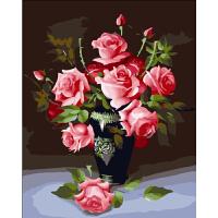 菲绣绣艺 手绘油画 数字油画 吾爱 一生一世玫瑰花 客厅大幅风景花卉人物情侣客厅房间装饰画 数码手绘装饰画