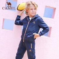 camel骆驼秋季儿童微弹运动套装男女童户外跑步服饰两件套