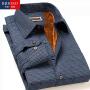 BRIOSO 秋冬男士保暖衬衫 经典商务修身加绒加厚长袖男式衬衣 ND25095