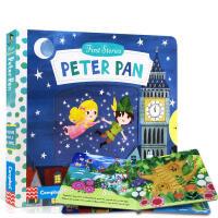 【中商原版】动手小故事 彼得潘 英文原版 Peter Pan (First Stories) 纸板机关书 童话故事绘本