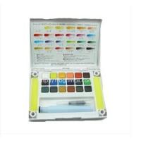 樱花泰伦斯18色透明固体水彩颜料 写生水彩颜料 带调色盘自来水笔