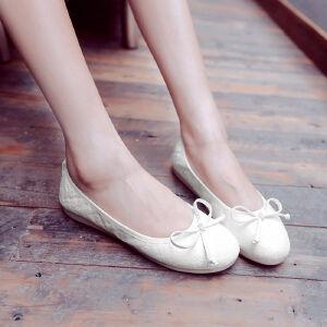 O'SHELL欧希尔新品057-1515-1韩版平底鞋女士豆豆鞋