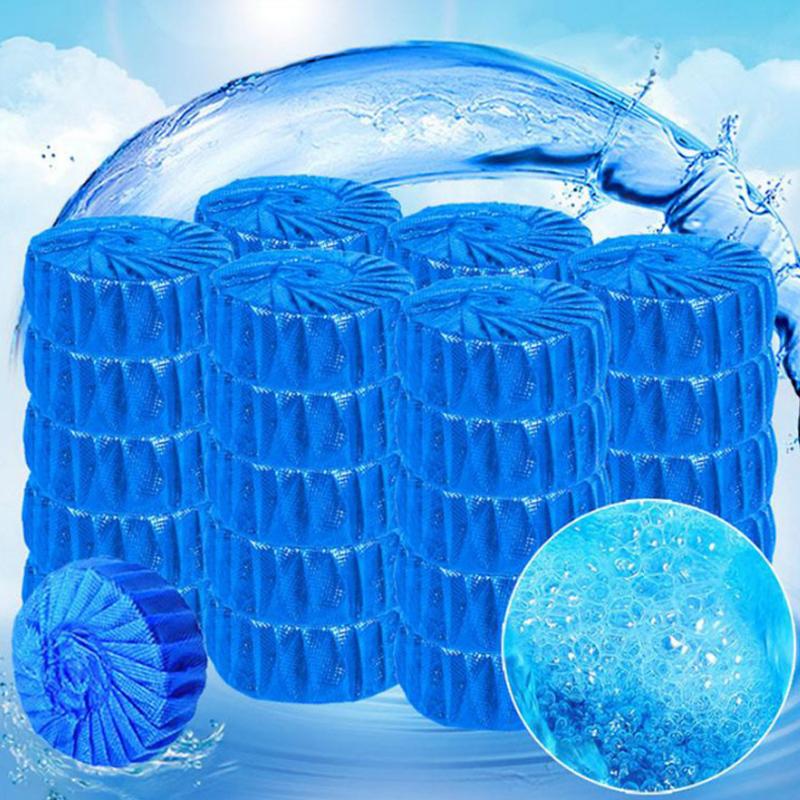 50个装通用装蓝泡泡 洁厕宝 洁厕灵 厕所马桶清洁剂 卫生间除臭块清洁厕所除臭尿垢卫生间家用